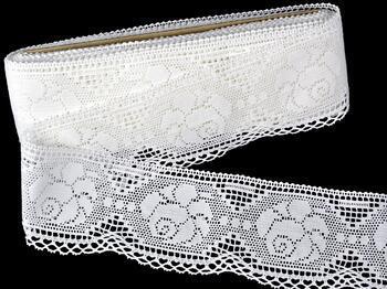 Cotton bobbin lace 75237, width80mm, white - 1