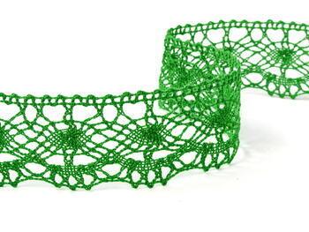 Paličkovaná krajka vzor 75238 trávová zelená | 30 m - 1