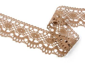 Bobbin lace No. 75238 dark beige | 30 m - 1