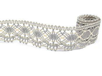 Bobbin lace No. 75238 dark linen/ecru | 30 m - 1