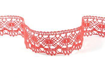 Cotton bobbin lace 75238, width 51 mm, light red coral - 1