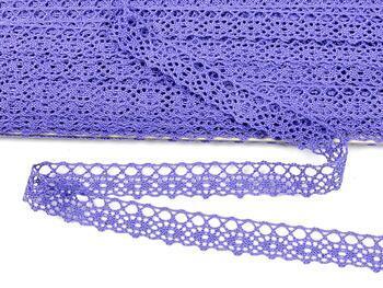 Cotton bobbin lace 75244, width 16 mm, purple II - 1
