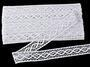 Cotton bobbin lace insert 75250, width31mm, white - 1/5
