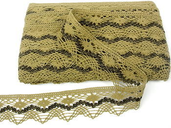 Bobbin lace No. 75251 chocolate/dark brown | 30 m - 1