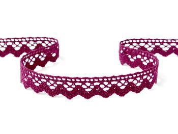 Cotton bobbin lace 75259, width 17 mm, violet - 1