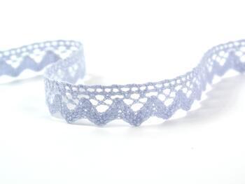 Cotton bobbin lace 75259, width 17 mm, light blue - 1