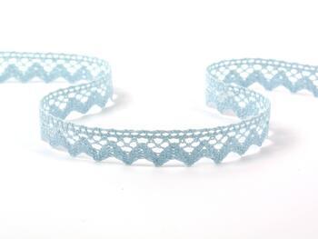 Cotton bobbin lace 75259, width 17 mm, pale blue - 1