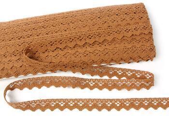 Cotton bobbin lace 75259, width 17 mm, terracotta - 1