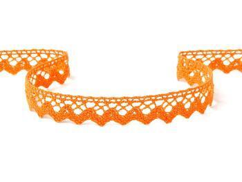 Paličkovaná krajka 75259 bavlněná, šířka17 mm, sytě oranžová - 1
