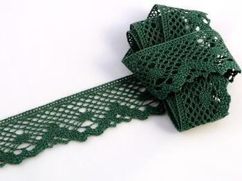 Paličkovaná krajka vzor 75261 tmavě zelená | 30 m - 1