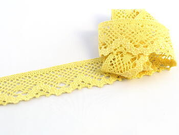 Bobbin lace No. 75261  light yellow | 30 m - 1