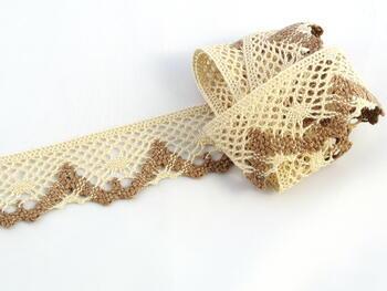Bobbin lace No. 75261 beige/dark beige | 30 m