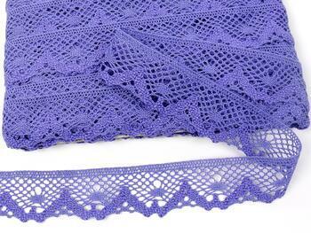 Cotton bobbin lace 75261, width 40 mm, purple II - 1