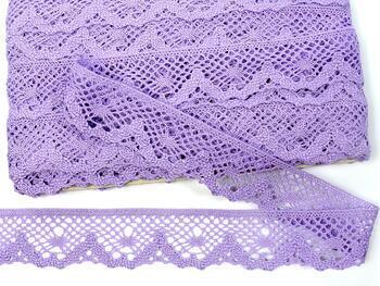 Cotton bobbin lace 75261, width 40 mm, purple III - 1