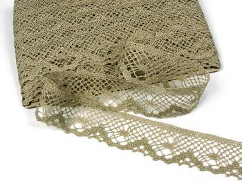 Linen bobbin lace 75261, width 40 mm, 100% linen natural - 1