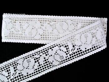 Paličkovaná krajka vzor 75269 bílá | 30 m - 1