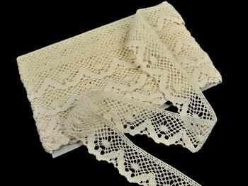 Cotton bobbin lace 75261, width 40 mm, ecru - 1