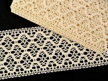 Cotton bobbin lace insert 75291, width30 mm, ecru - 1