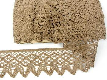 Bobbin lace No. 75293 dark beige | 30 m - 1