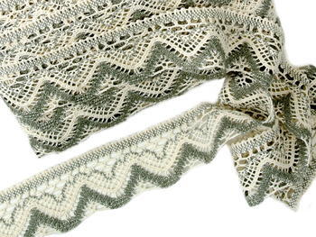 Bobbin lace No. 75301 ecru/dark linen | 30 m - 1