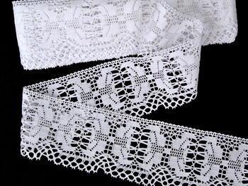 Paličkovaná krajka vzor 75313 bílá | 30 m - 1