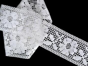 Paličkovaná vsadka vzor 75314 bílá | 30 m - 1