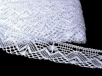 Paličkovaná krajka 75132 bavlněná, šířka65 mm, bílá - 1
