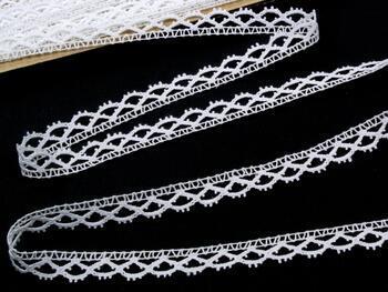 Paličkovaná krajka 75353 bavlněná, šířka15 mm, bílá - 1