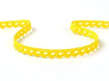 Paličkovaná krajka 75361 bavlněná, šířka9 mm, žlutá - 1