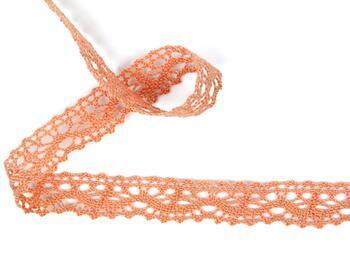 Cotton bobbin lace 75395, width 16 mm, salmon - 1