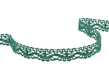 Paličkovaná krajka vzor 75395 tmavě zelená | 30 m - 1