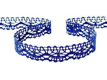 Paličkovaná krajka vzor 75395 tmavě modrá | 30 m - 1