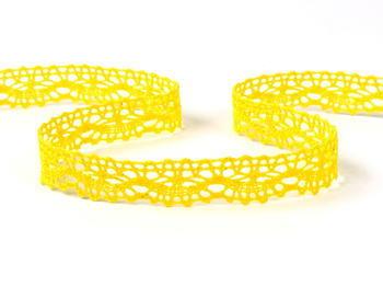 Paličkovaná krajka vzor 75395 žlutá | 30 m - 1