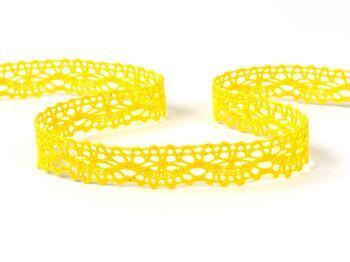 Paličkovaná krajka 75395 bavlněná, šířka16 mm, žlutá - 1