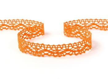 Paličkovaná krajka vzor 75395 sytě oranžová | 30 m - 1