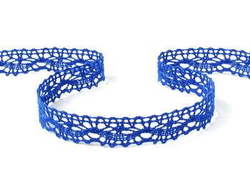 Paličkovaná krajka vzor 75395 královská modrá | 30 m - 1
