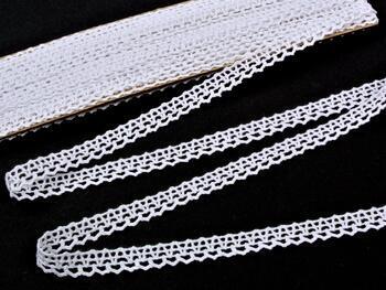Paličkovaná krajka 75405 bavlněná, šířka10 mm, bílá - 1