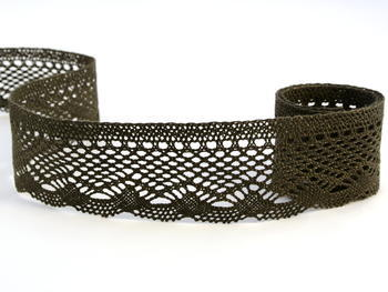 Bobbin lace No. 75414 dark olive | 30 m - 1