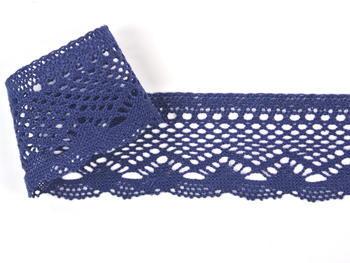 Paličkovaná krajka vzor 75414 tmavě modrá | 30 m - 1