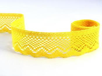 Paličkovaná krajka vzor 75414 žlutá | 30 m - 1