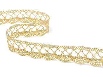 Bobbin lace No. 75428/75099 gold+white | 30 m - 1