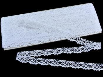Paličkovaná krajka 75413 bavlněná, šířka15 mm, bílá - 1