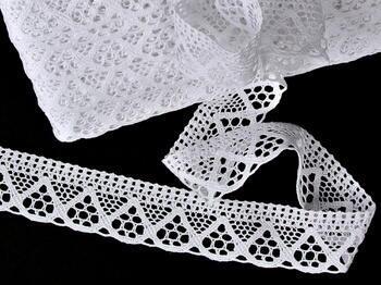 Bobbin lace No. 75453 white | 30 m - 1