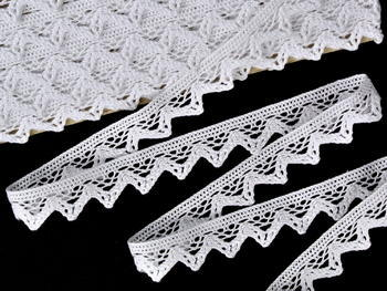 Bobbin lace No. 75469 white | 30 m - 1