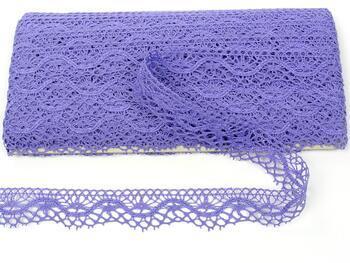 Paličkovaná krajka 75416 bavlněná, šířka27 mm, purpurová II - 1