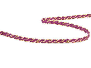 Bobbin lace No. 75481 violet/gold | 30 m - 1