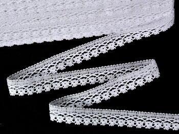 Paličkovaná krajka vzor 75499 bílá | 30 m - 1