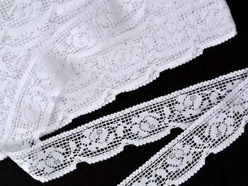 Paličkovaná krajka vzor 75506 bílá | 30 m - 1