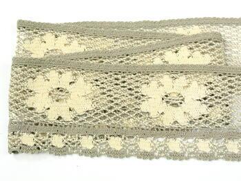 Bobbin lace No. 75533 ecru/dark lien | 30 m - 1