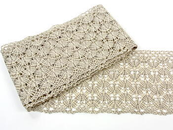 Bobbin lace No. 75542 natural/dark linen | 30 m - 1